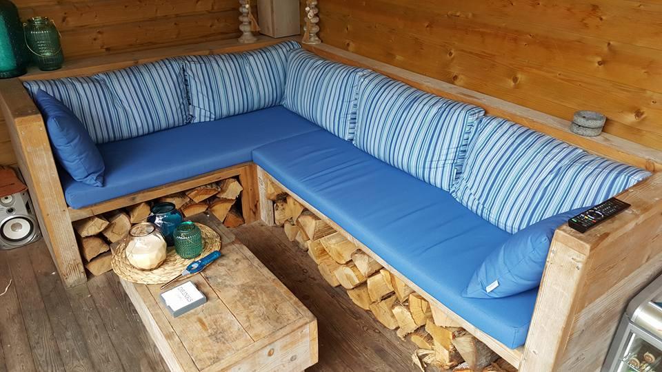 loungeset, kussens op maat , maatkussens